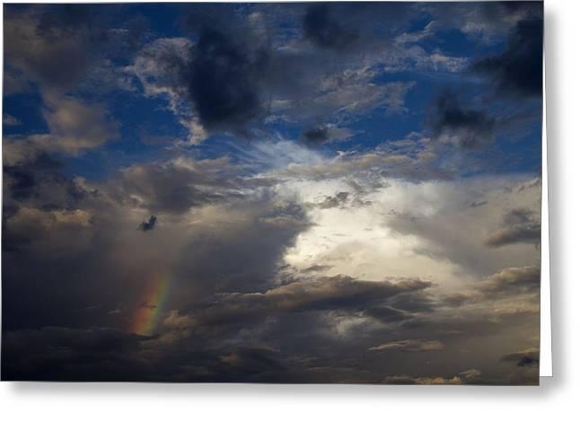 Scottsdale Lightning Photographs Greeting Cards - Tatum Sky Rainbow Greeting Card by Cathy Franklin