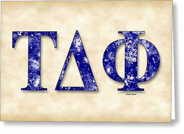 Social Organizations Greeting Cards - Tau Delta Phi - Parchment Greeting Card by Stephen Younts