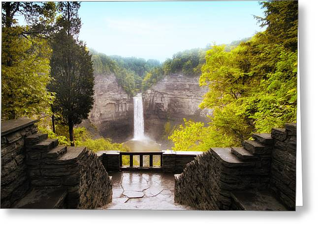 Taughannock Greeting Cards - Taughannock Falls Greeting Card by Jessica Jenney