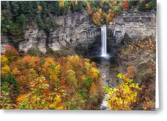 Taughannock Fall Greeting Card by Mark Papke