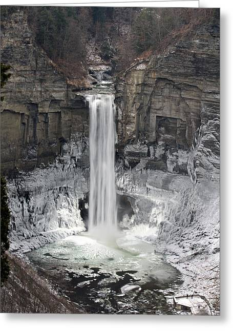 Recently Sold -  - Ithaca Greeting Cards - Taughannock Falls Greeting Card by David Simons