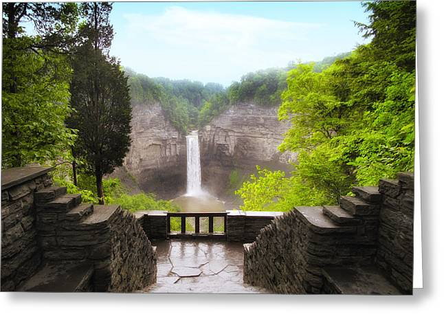 Taughannock Falls Greeting Card by Jessica Jenney