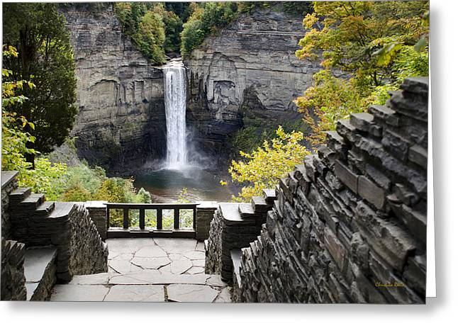 Ithaca Greeting Cards - Taughannock Falls Overlook Greeting Card by Christina Rollo