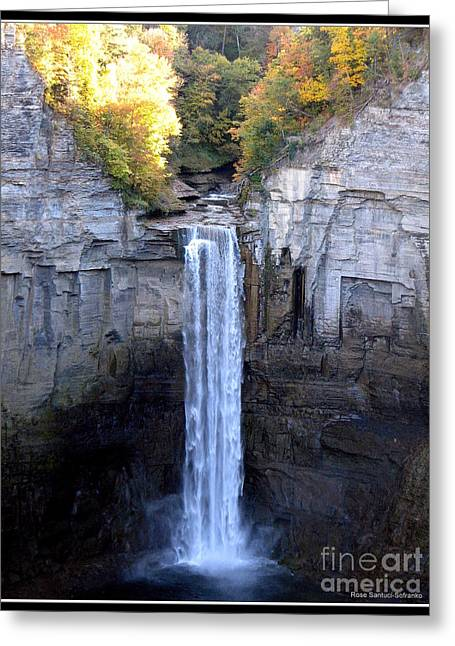 Tompkins County Greeting Cards - Taughannock Falls  Greeting Card by Rose Santuci-Sofranko