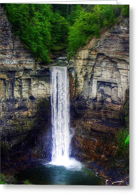 Ithaca Greeting Cards - Taughannock Falls Ulysses NY Greeting Card by Tim Buisman
