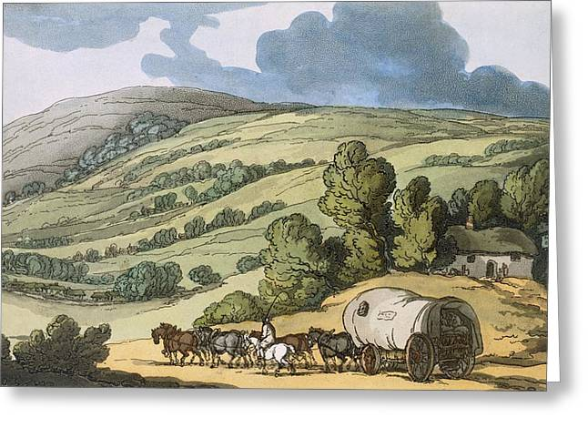 Public House Greeting Cards - Taunton Vale, Somersetshire Greeting Card by Thomas Rowlandson