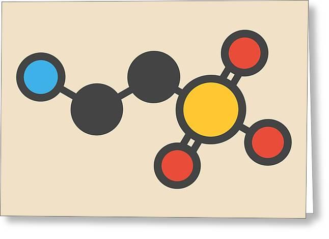 Taurine Molecule Greeting Card by Molekuul