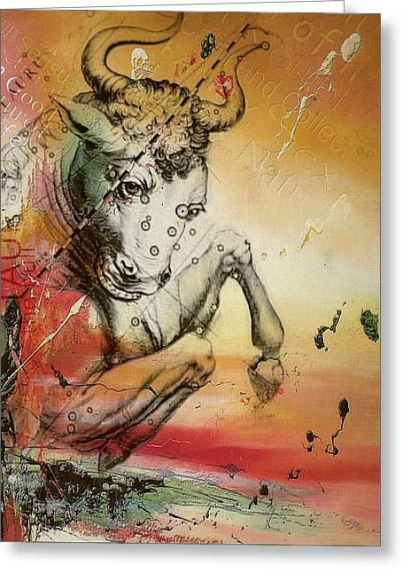 Tarot Cards Greeting Cards - Taurus  Greeting Card by Corporate Art Task Force