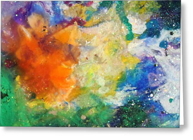 Splashy Paintings Greeting Cards - Taurus11 Greeting Card by Kathleen Fowler