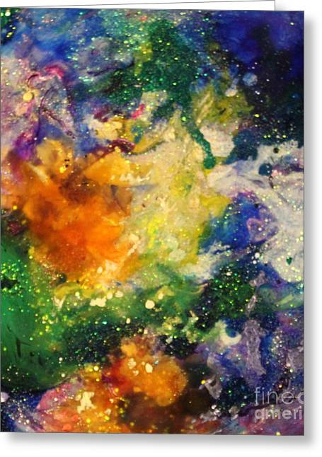 Splashy Paintings Greeting Cards - Taurus12 Greeting Card by Kathleen Fowler