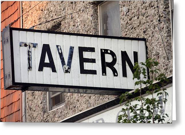 Underage Greeting Cards - Tavern  - STRSCH Greeting Card by Stephen Host