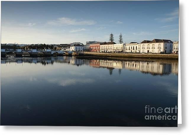 Algarve Greeting Cards - Tavira City and Gilao River Greeting Card by Angelo DeVal