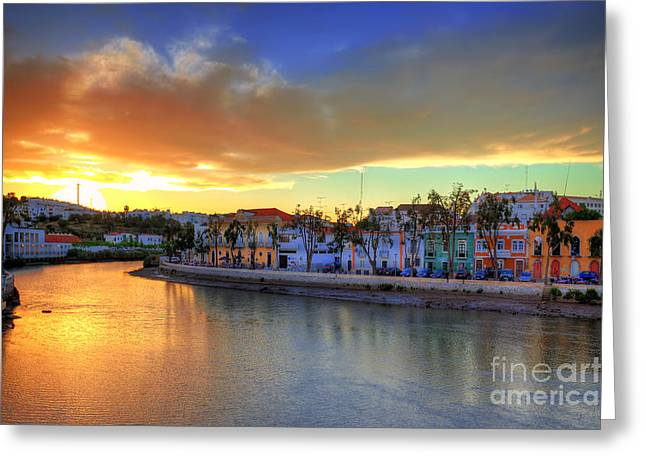 Praia De Faro Greeting Cards - Tavira Summer Sunset Greeting Card by English Landscapes