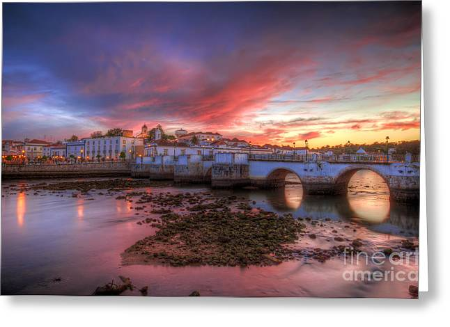 Praia De Faro Greeting Cards - Tavira Twilight Greeting Card by English Landscapes