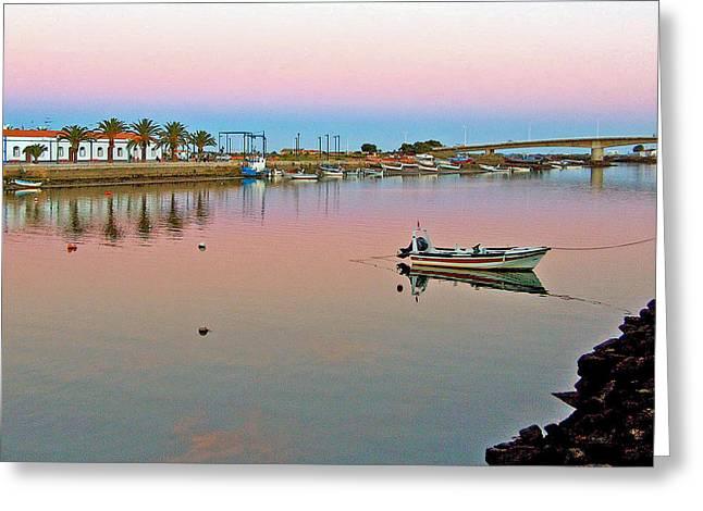 Tavira Greeting Cards - Taviras River in Ria Formosa Natural Park-Portug Greeting Card by Ruth Hager