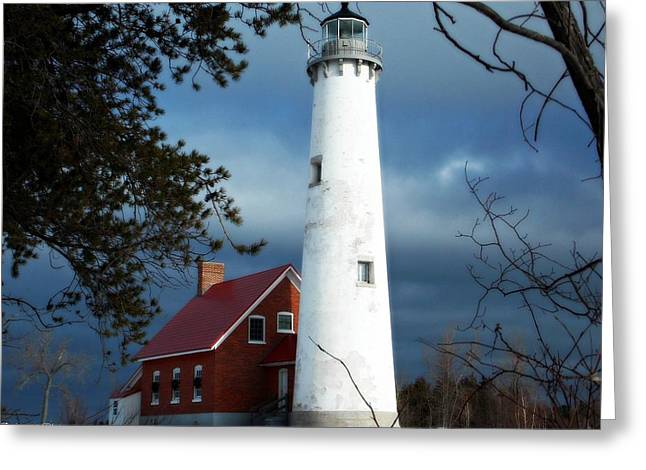 Nature Greeting Cards - Tawas Point Greeting Card by Belinda Olivastri