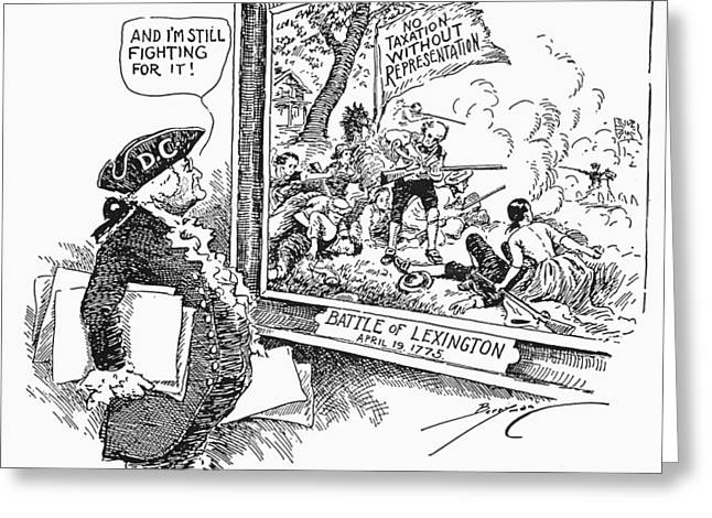 Injustices Greeting Cards - Taxation Cartoon, 1934 Greeting Card by Granger