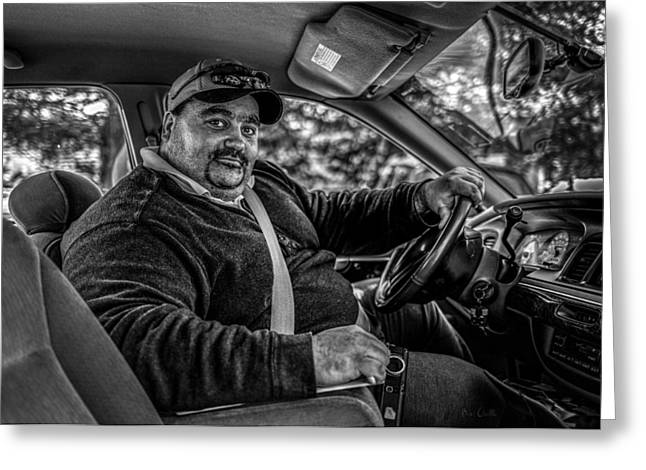 Taxis Greeting Cards - Taxi Driver Greeting Card by Bob Orsillo
