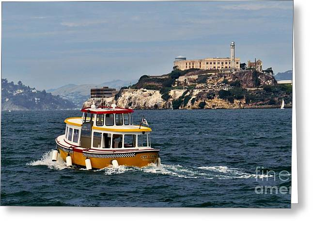 Alcatraz Greeting Cards - Taxi Service Greeting Card by Scott Cameron