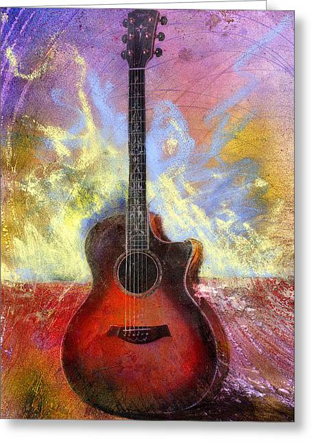Acoustic Guitar Greeting Cards - Taylor Greeting Card by Andrew King