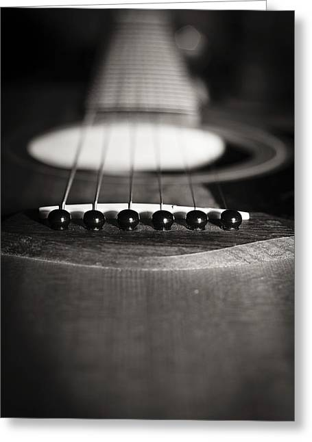 Big Blue Marble Greeting Cards - Taylor Guitar Greeting Card by Kelly Gibson