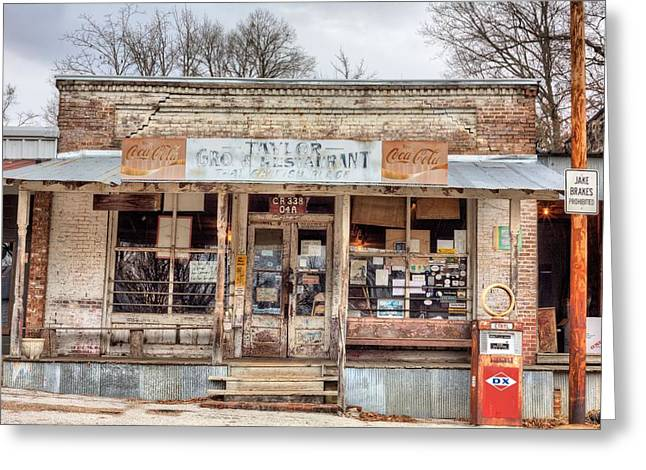 Grocery Store Greeting Cards - Taylor Mississippi Greeting Card by JC Findley
