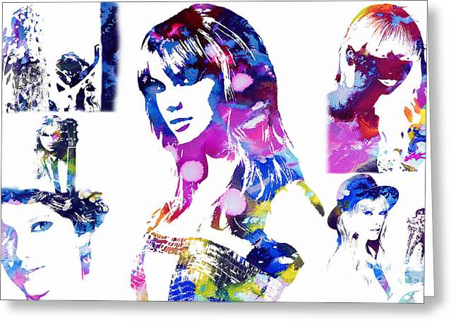 Madison Square Garden Mixed Media Greeting Cards - Taylor Swift - A Tribute Greeting Card by Michael Braham