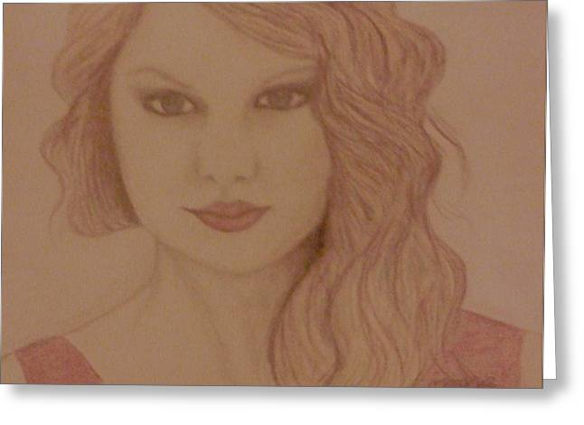 Taylor Swift Greeting Card by Christy Saunders Church