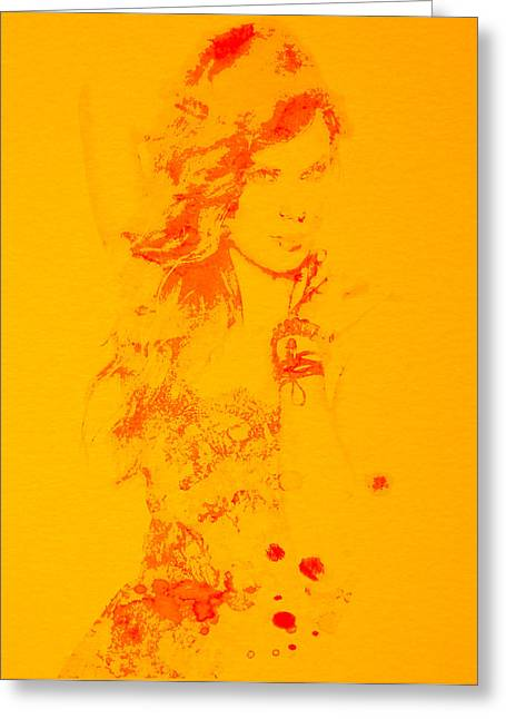 Taylor Swift Paintings Greeting Cards - Taylor Swift Enchanted Greeting Card by Brian Reaves