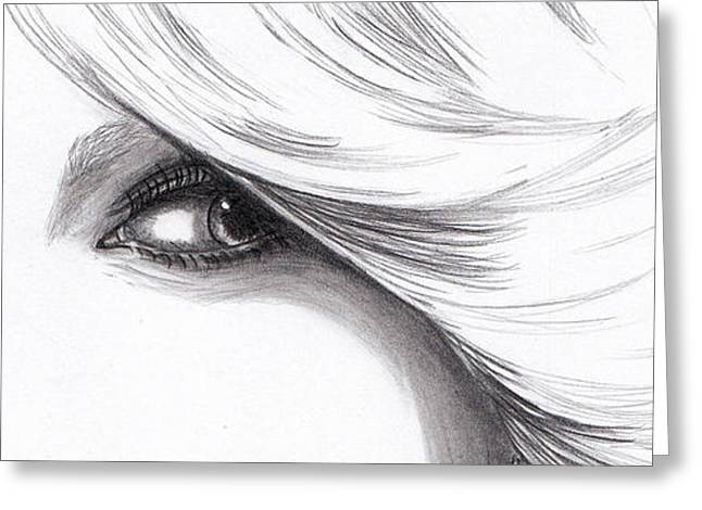 Taylor Swift - Eyes  Greeting Card by Furniga Niculina