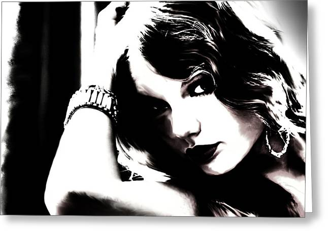 Taylor Swift Paintings Greeting Cards - Taylor Swift Long Live Greeting Card by Brian Reaves