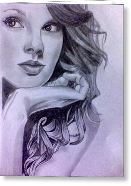 Taylor Swift Greeting Card by Mukul Dhankhar