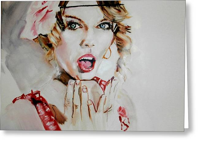 Taylor Swift Paintings Greeting Cards - Taylor Swift/Seventeen Greeting Card by Martin Strong
