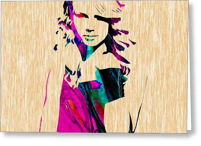 Pop Mixed Media Greeting Cards - Taylor Swift Shake It Off Greeting Card by Marvin Blaine