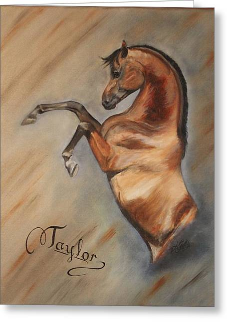 Custom Horse Portrait Greeting Cards - Taylors Dreamhorse Greeting Card by Debra Arney
