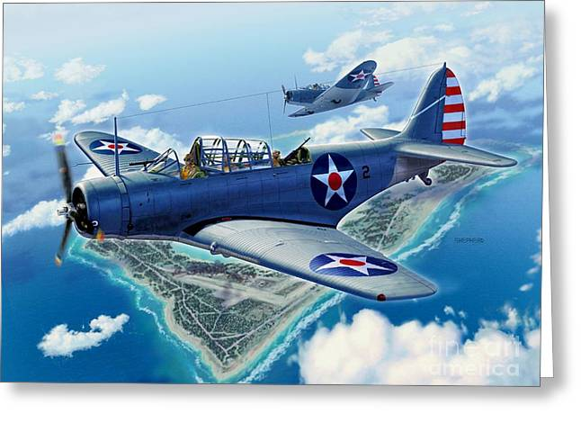 Carrier Greeting Cards - TBD Over Wake Greeting Card by Stu Shepherd