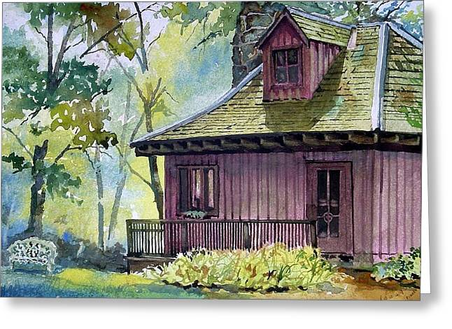 Steele Paintings Greeting Cards - TC Steele Bungalow Studio Greeting Card by Spencer Meagher
