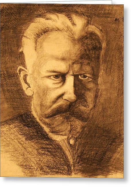 Tchaikovsky Greeting Cards - Tchaikovsky Greeting Card by Wassim Ayoub
