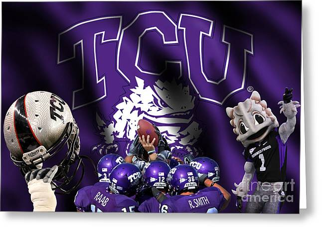 Recently Sold -  - Randy Greeting Cards - TCU - Fear the Frogs Greeting Card by Randy Smith