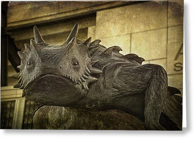 Tcu Horned Frog Greeting Card by Joan Carroll