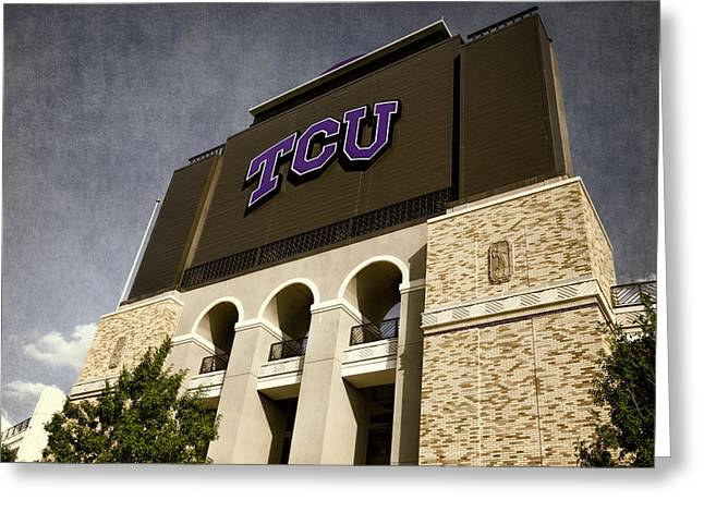 Carter Photographs Greeting Cards - TCU Stadium Entrance Greeting Card by Joan Carroll