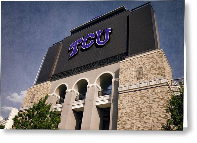 Carter Photographs Greeting Cards - TCU Stadium Entrance II Greeting Card by Joan Carroll
