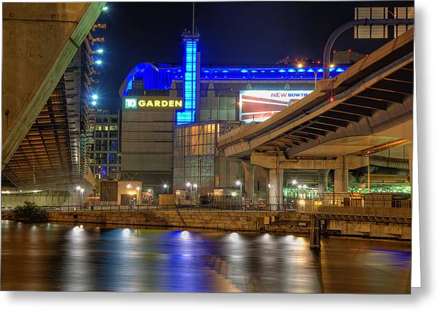 TD Garden - Boston Greeting Card by Joann Vitali
