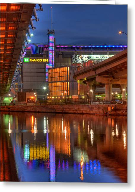 Boston Garden Greeting Cards - TD Garden - Breast Cancer Awareness - Boston Greeting Card by Joann Vitali