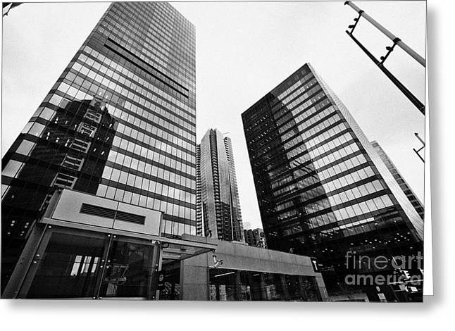 Td Greeting Cards - td tower city centre station and ibm tower 701 west georgia part of the pacific centre complex Vanco Greeting Card by Joe Fox