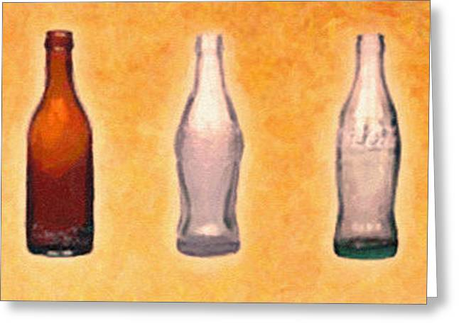 Shell Texture Greeting Cards - Te evolution of the bottle Greeting Card by MotionAge Designs