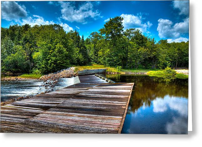 Spillways Greeting Cards - The Lock and Dam - Thendara NY Greeting Card by David Patterson