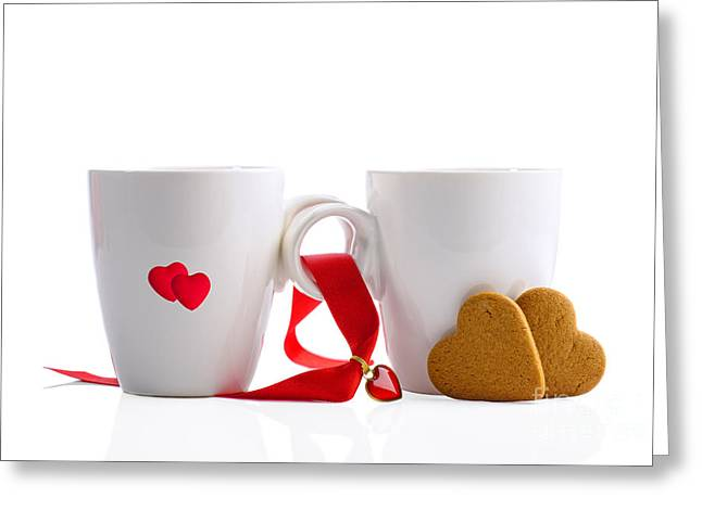 Valentines Day Greeting Cards - Tea And Gingerbread Greeting Card by Amanda And Christopher Elwell