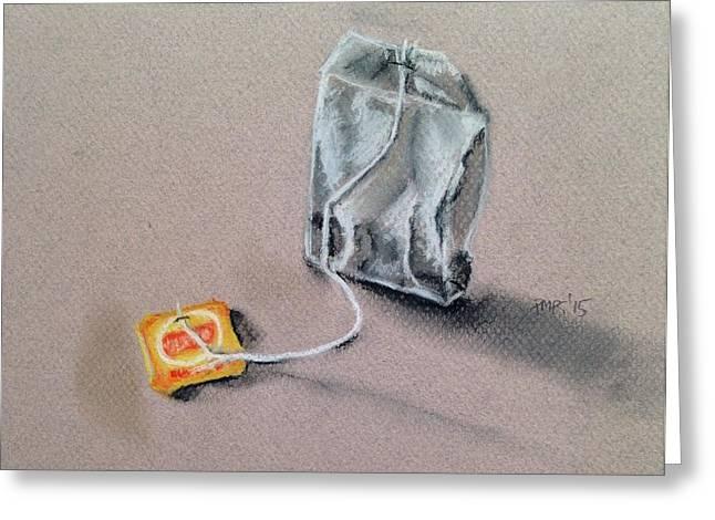 Tea Bag Greeting Card by Paulina Paterak-Salmon
