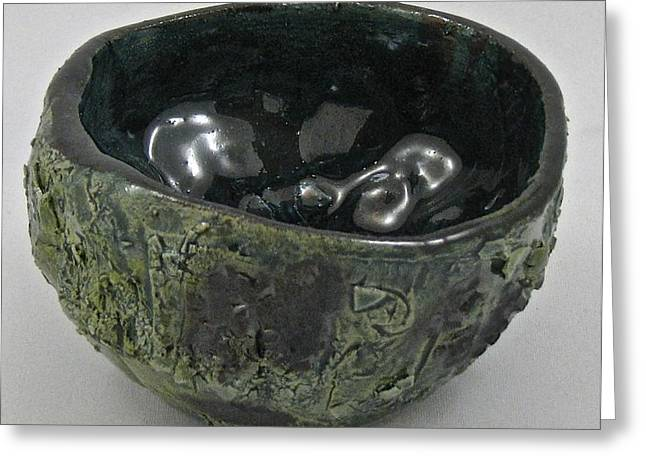 Bowl Ceramics Greeting Cards - Tea Bowl #5 Greeting Card by Mario Perron